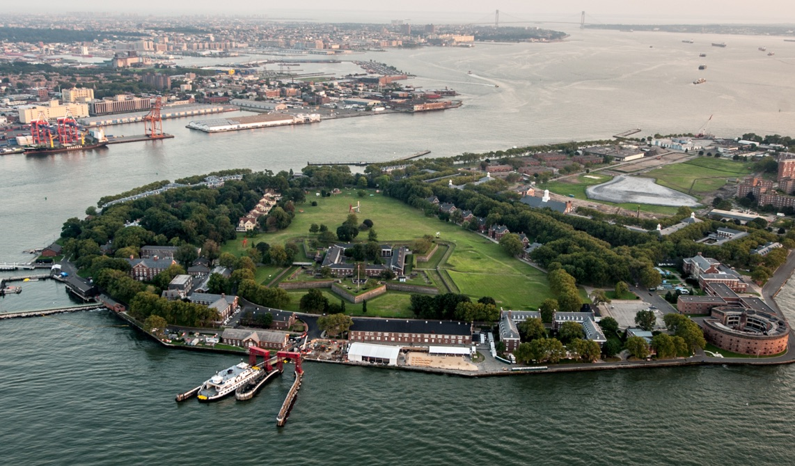 Governors Island from above